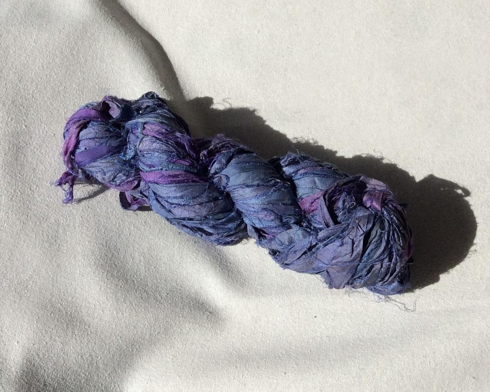 amelia blue sari ribbon