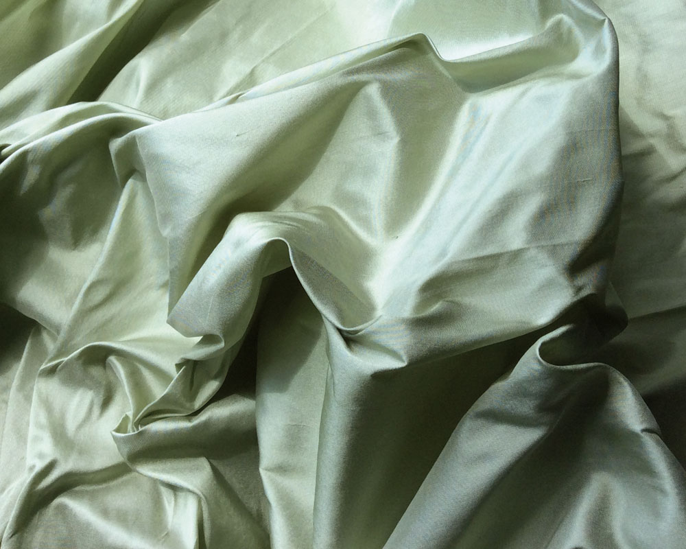 JB 666 Tea Green Indian Silk Dupion