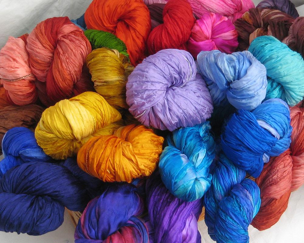 Scrunchie Silk Scarves - Various colours