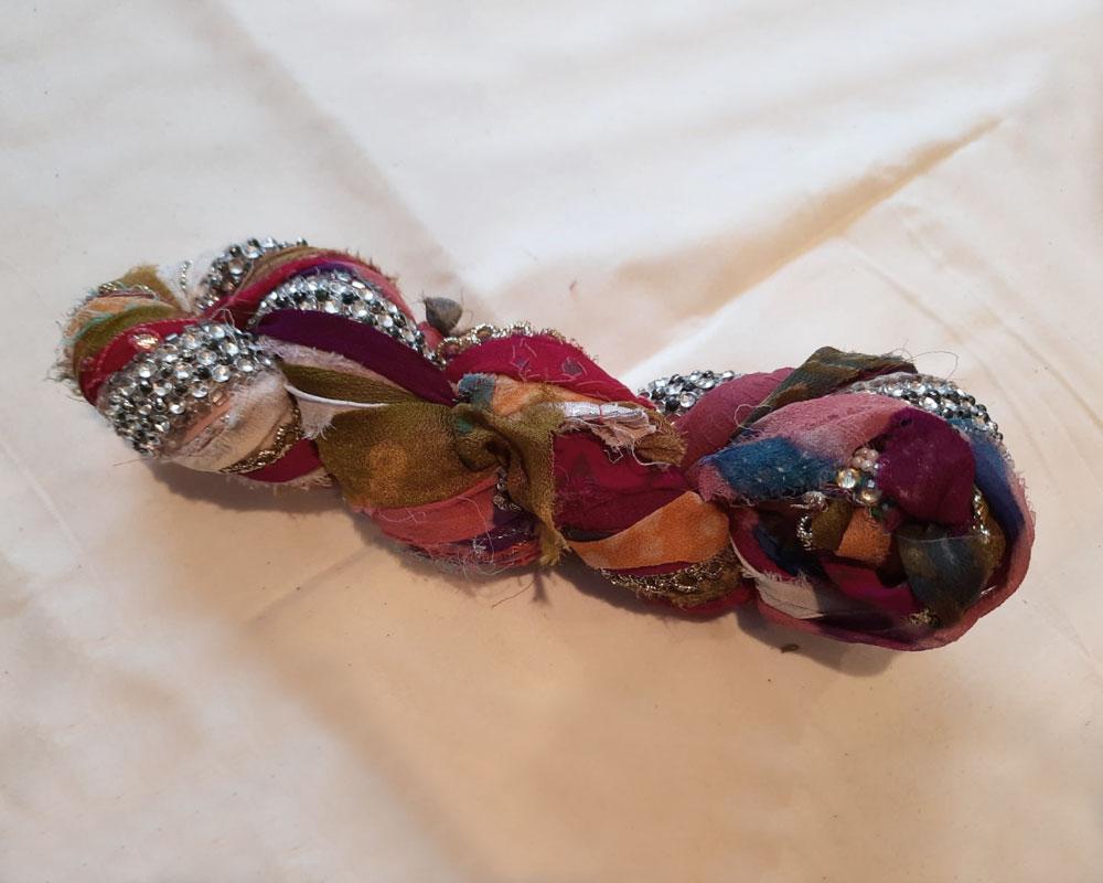 embroidered silk chiffon